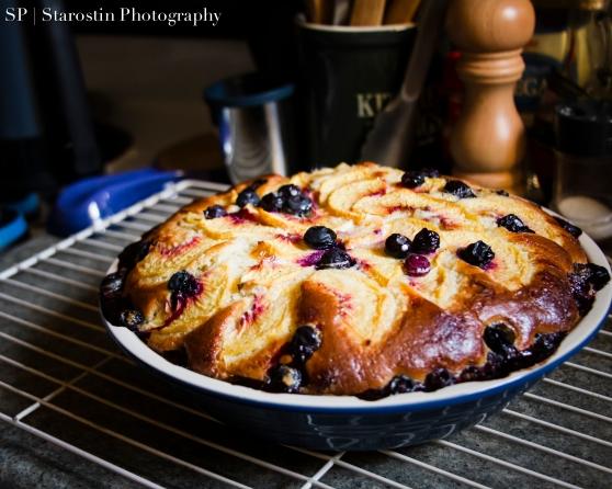 Peach/Blueberry Custard Kuchen